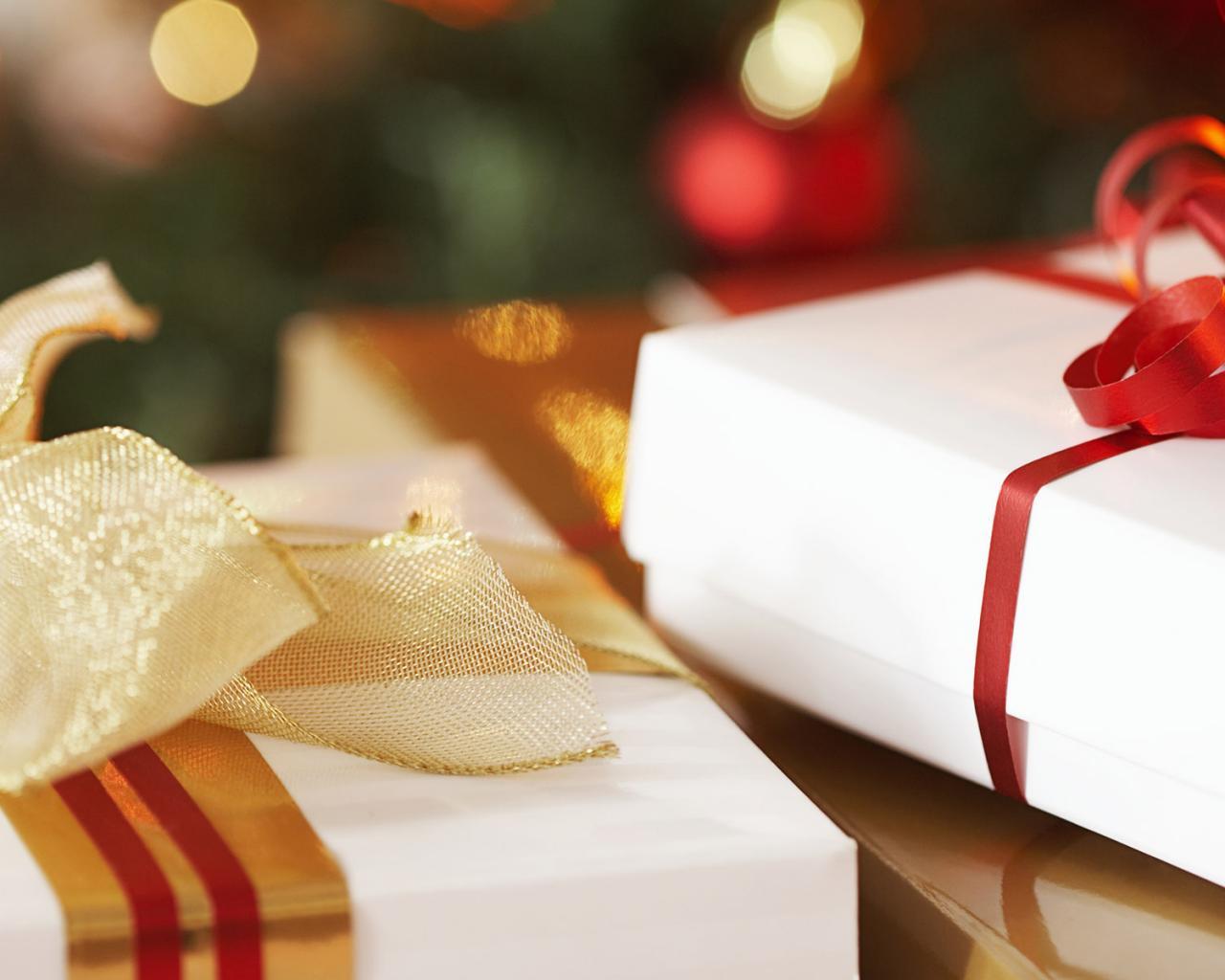 Скачать обои Красивые рождественские подарки / 1280x1024