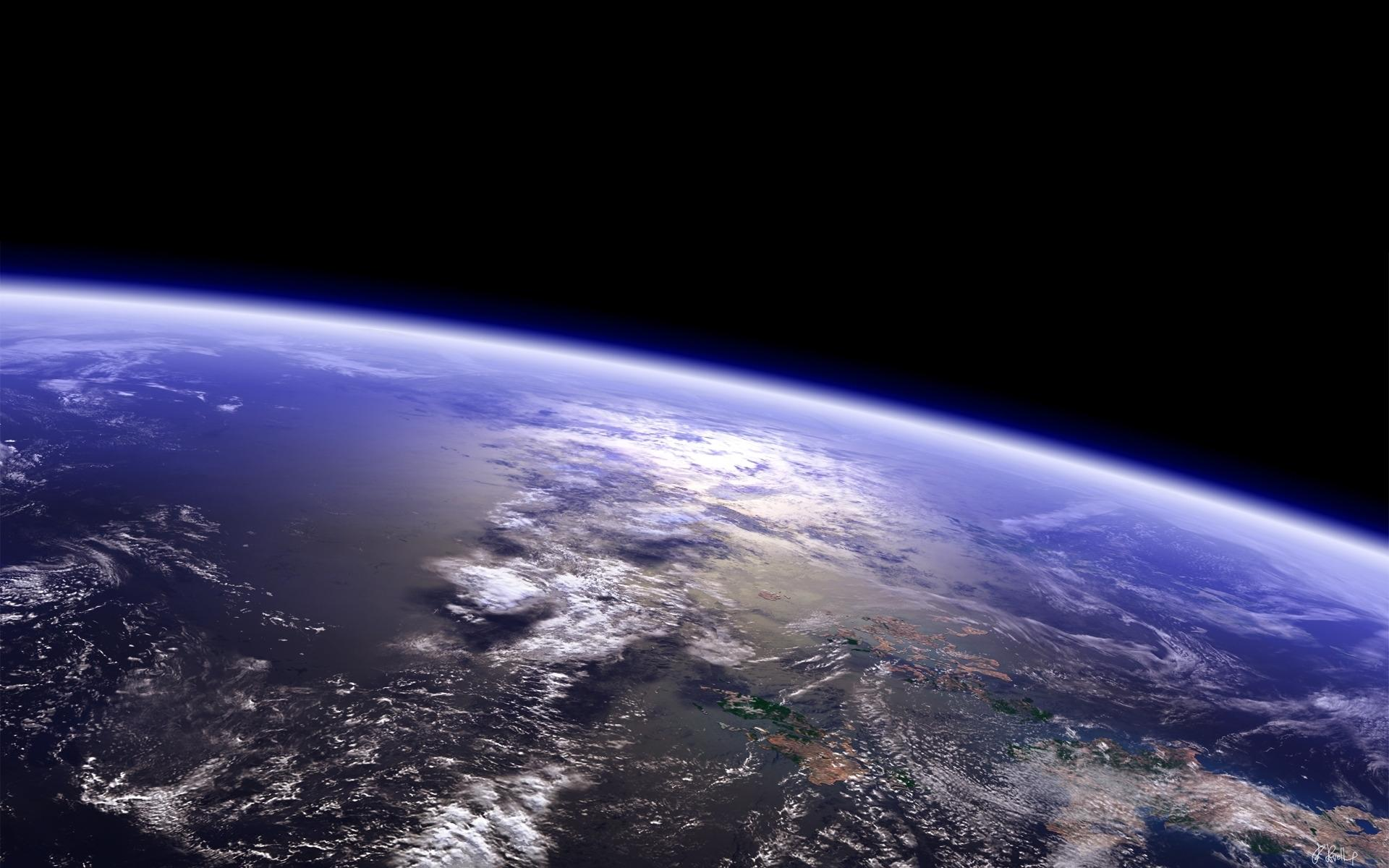 Планета земля вид из космоса обои для