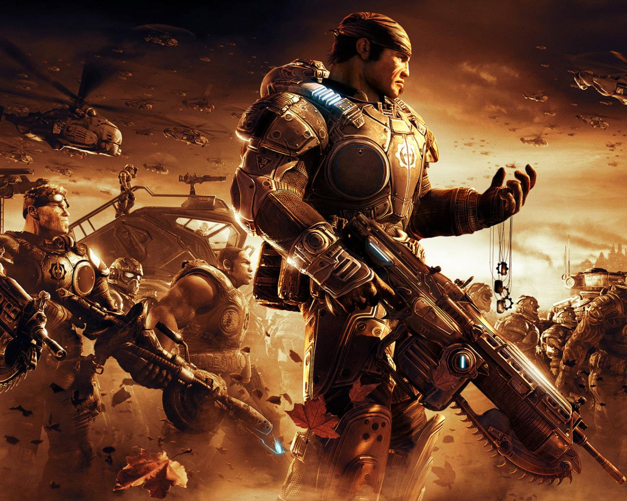 Армия солдат из игры gears of war 3 обои для