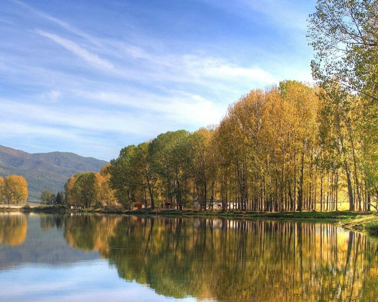 Бесплатно скачать осень на озере