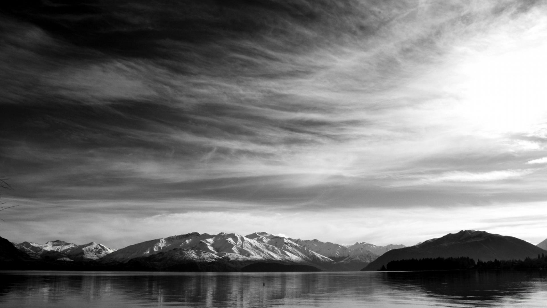 Черно белый пейзаж обои для рабочего