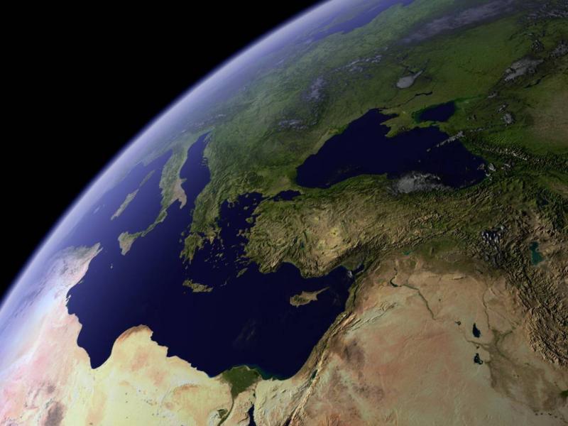 Вид земли из космоса обои для рабочего