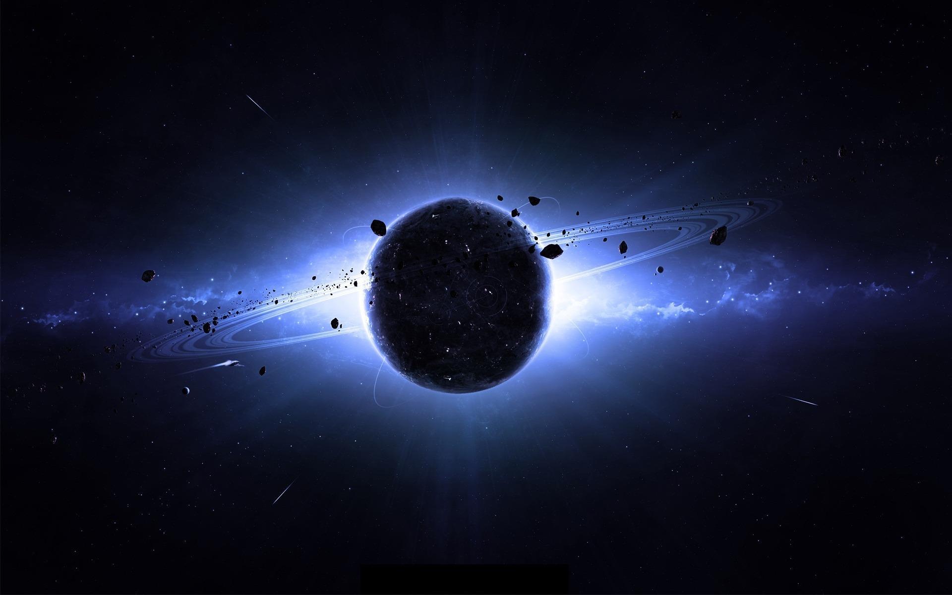 Космос планета космос кольца свечение
