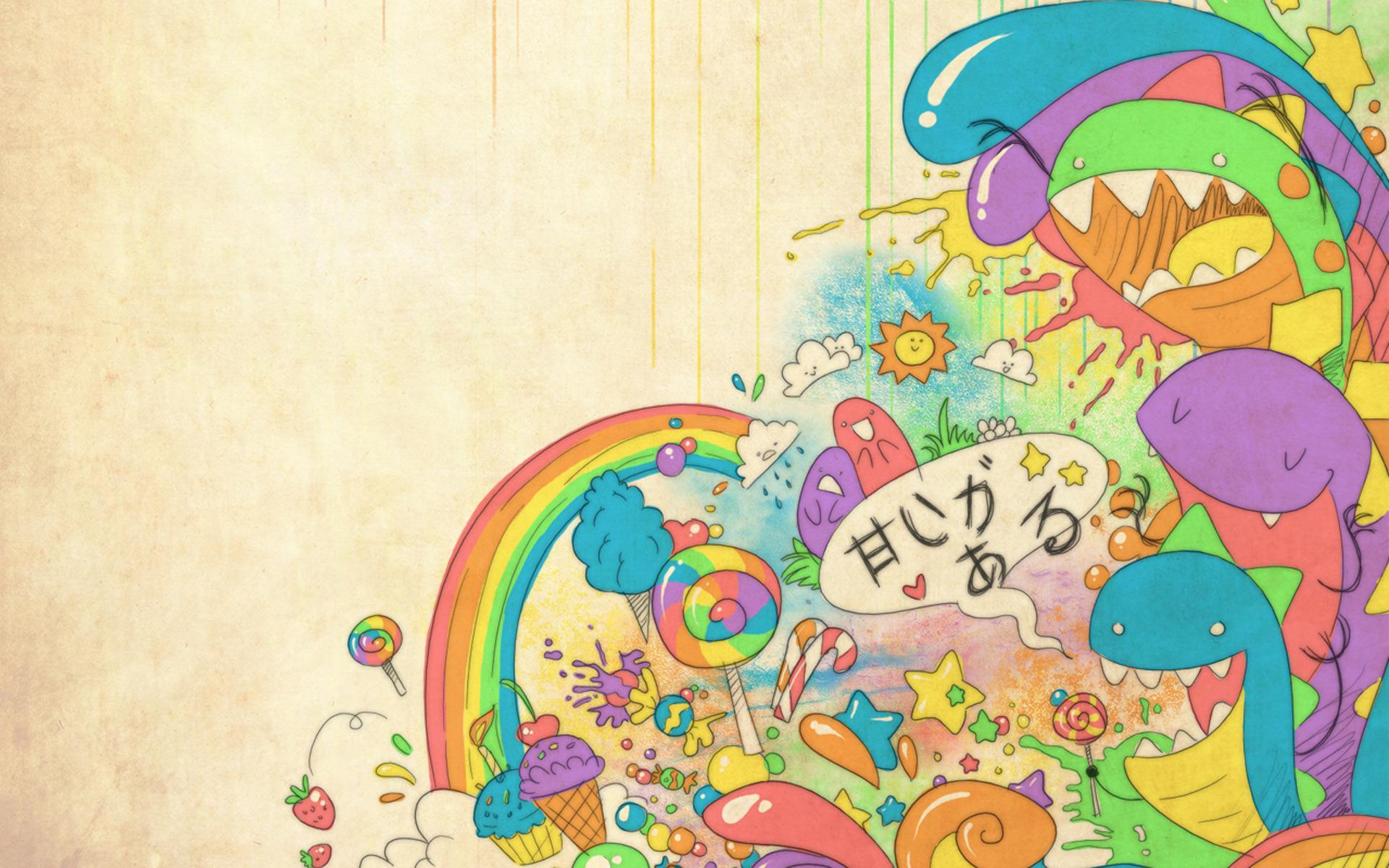 Абстракция радуга конфеты мороженое