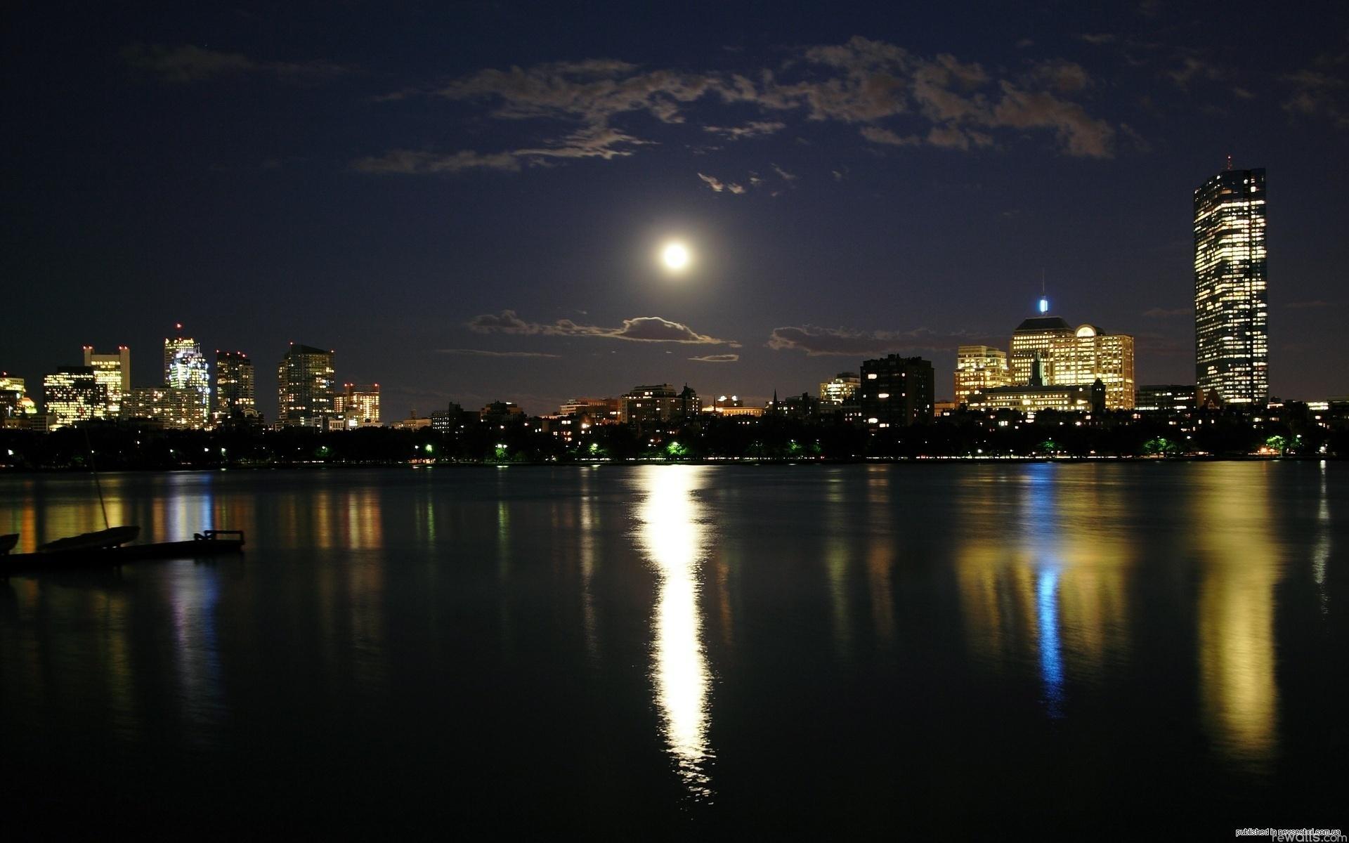Обои ночь, Вода. Города foto 10