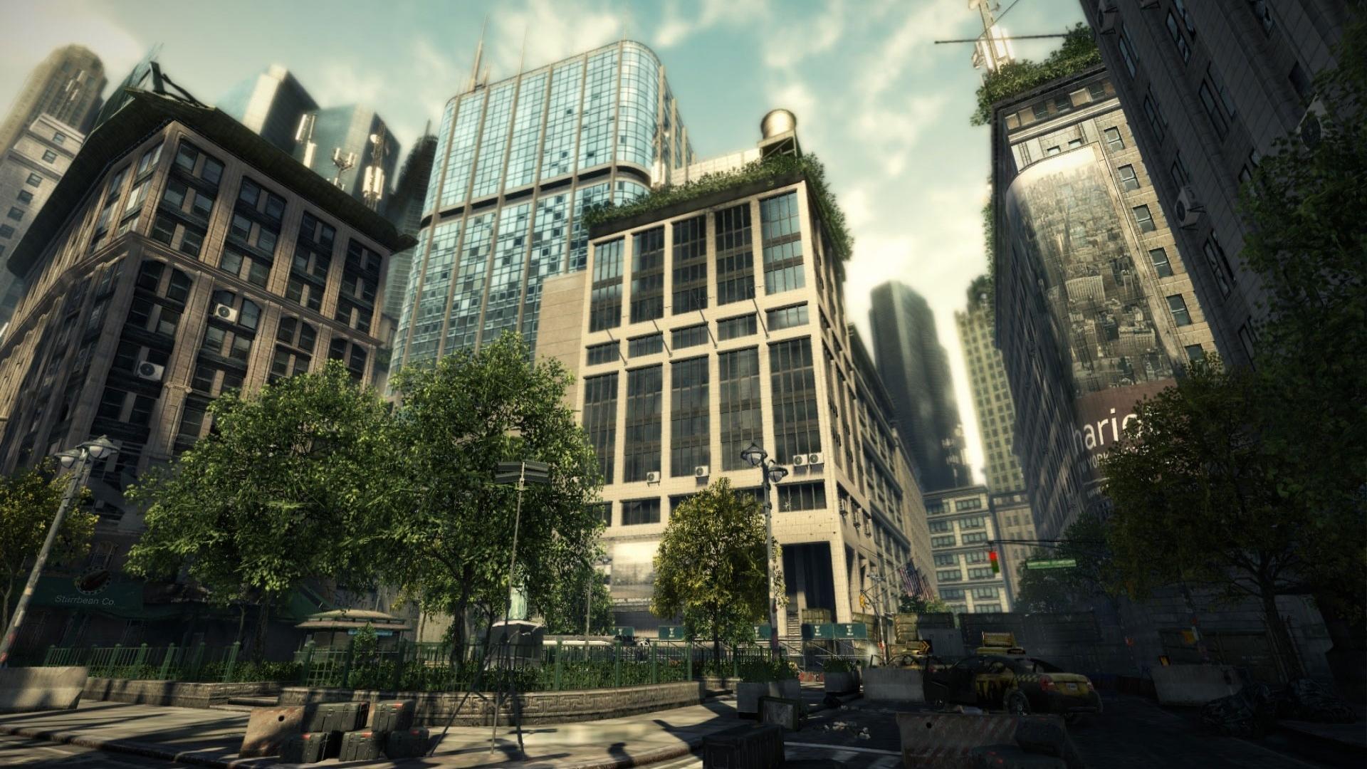 New york crysis 2 здания обои для рабочего