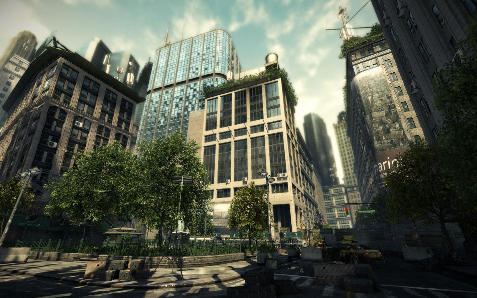New, york, crysis, 2, здания 1920x1200