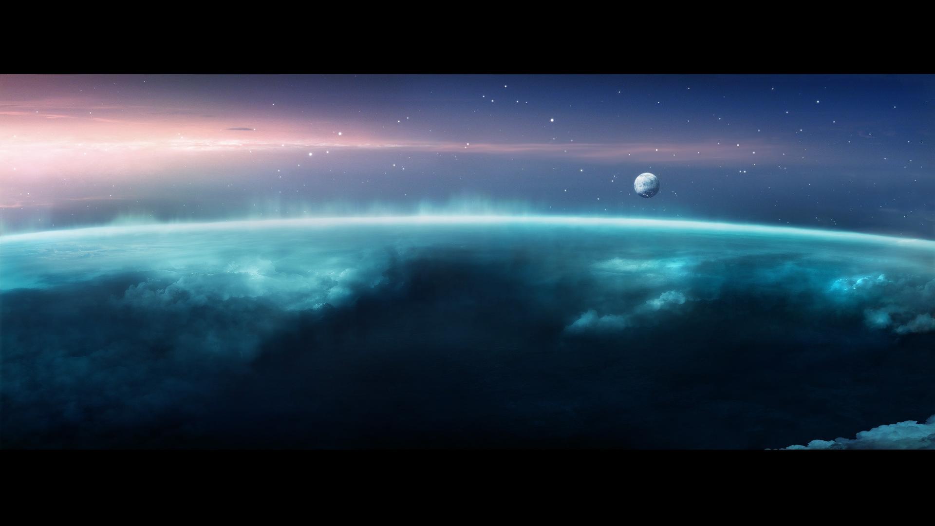 Сияние космос вселенная галактика
