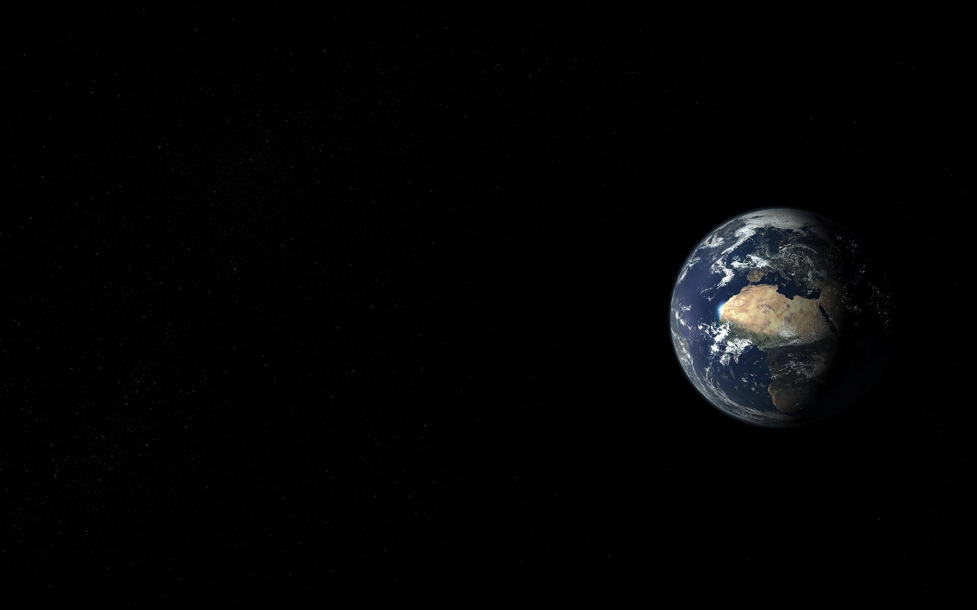 Космос земля планета вид пейзаж