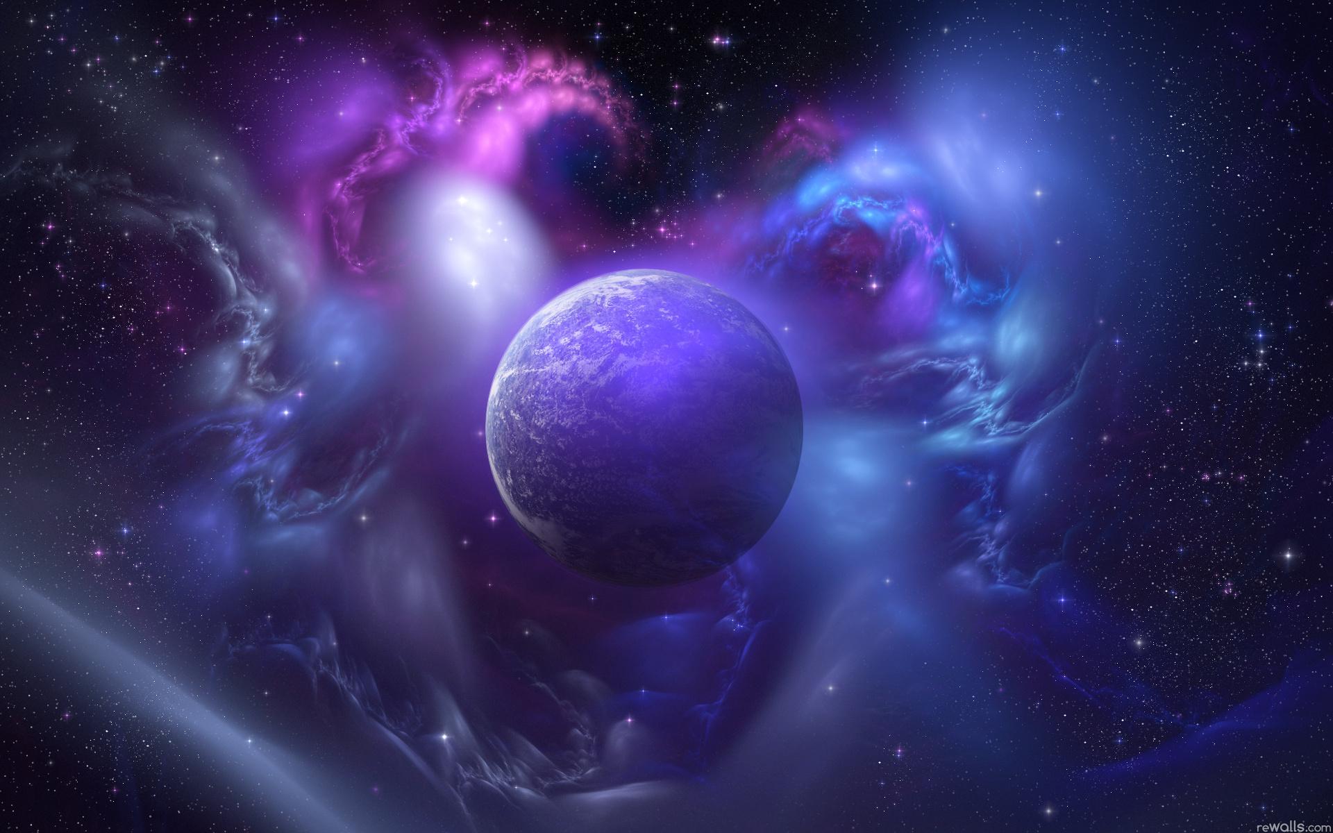 Туманность планета звезды космос
