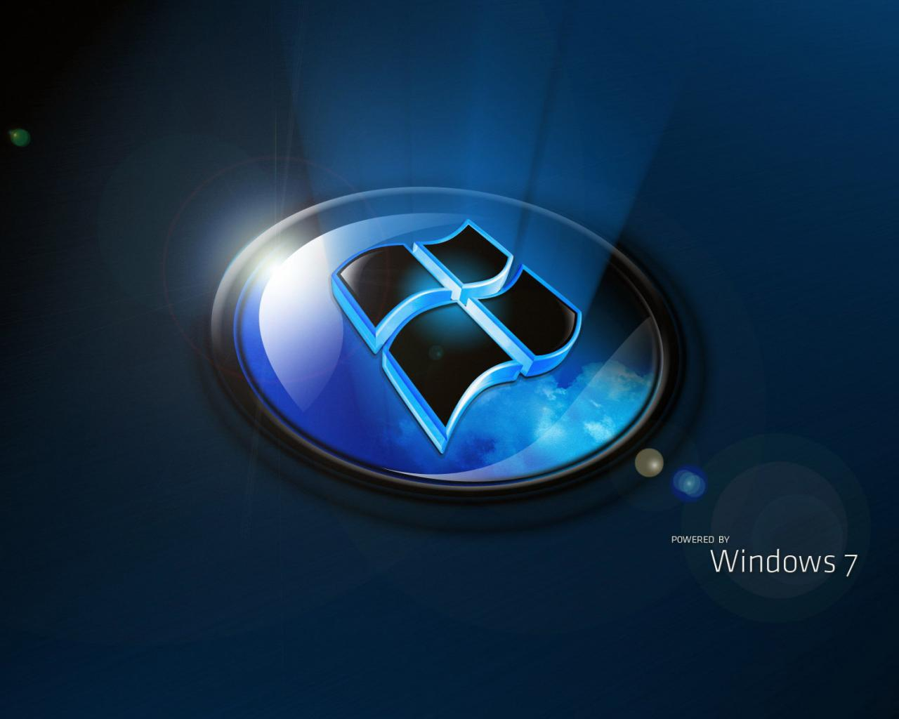 Windows 7 lighting rendering 3d 1280x1024