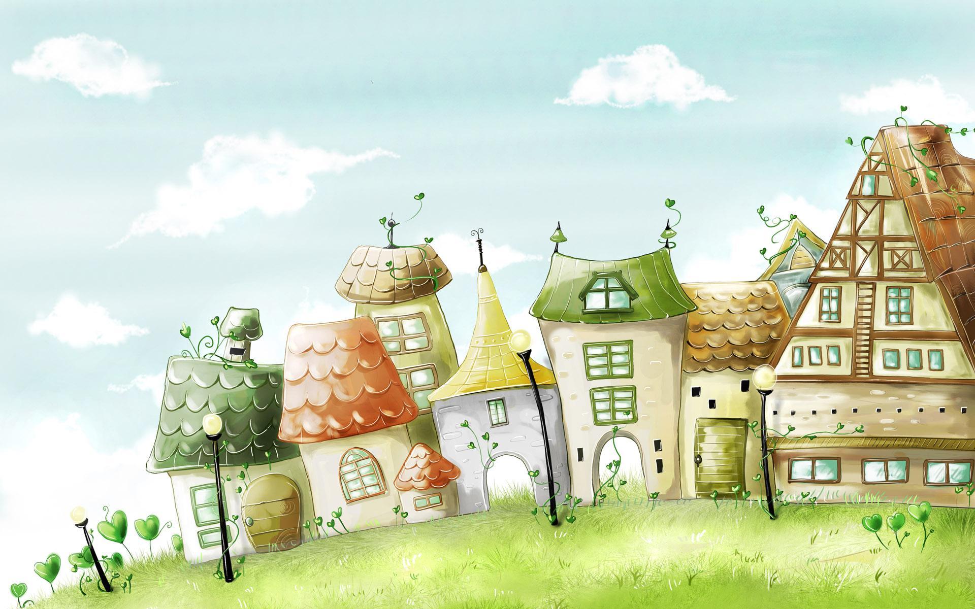обои домики:
