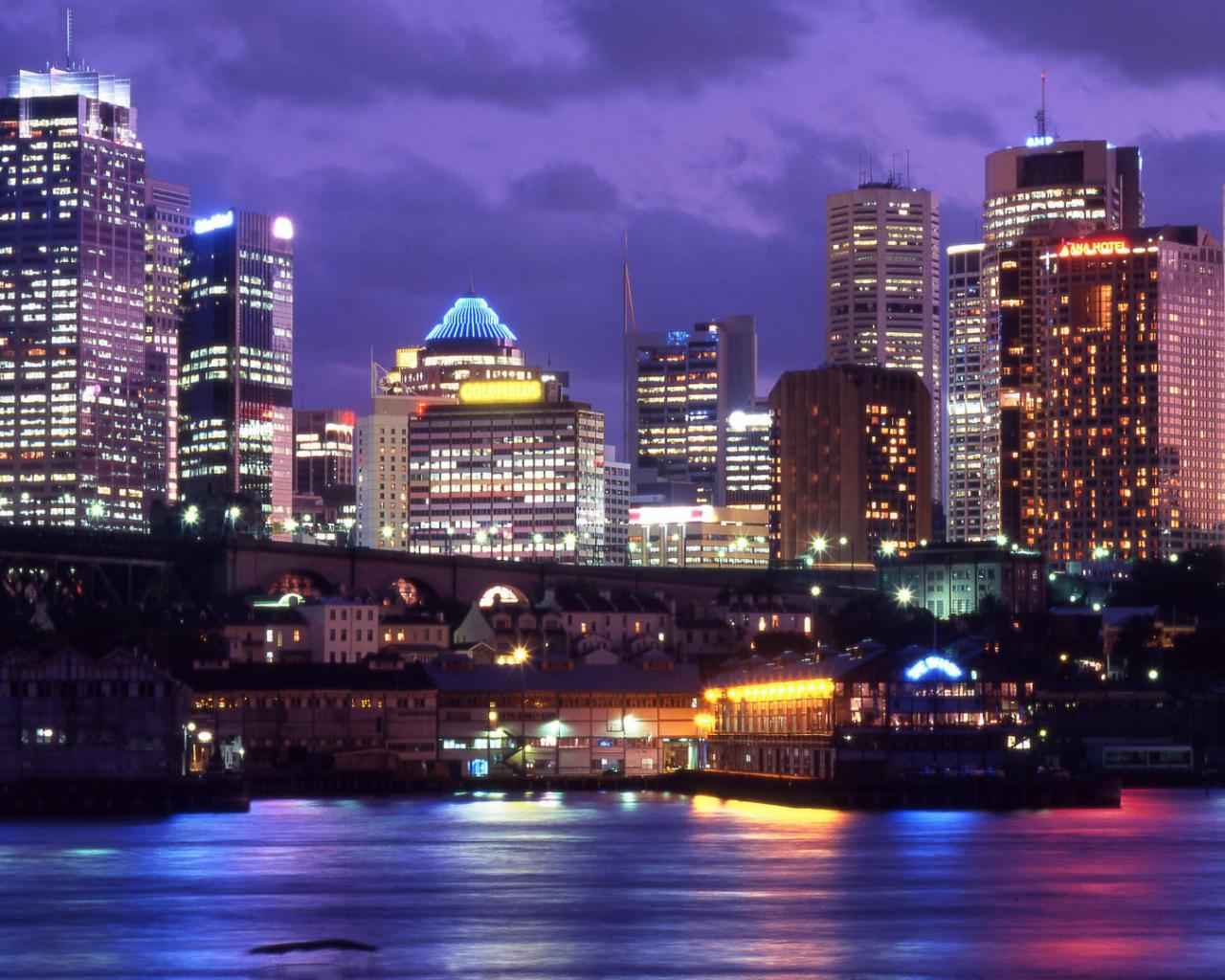 Сидней австралия даунтаун обои для
