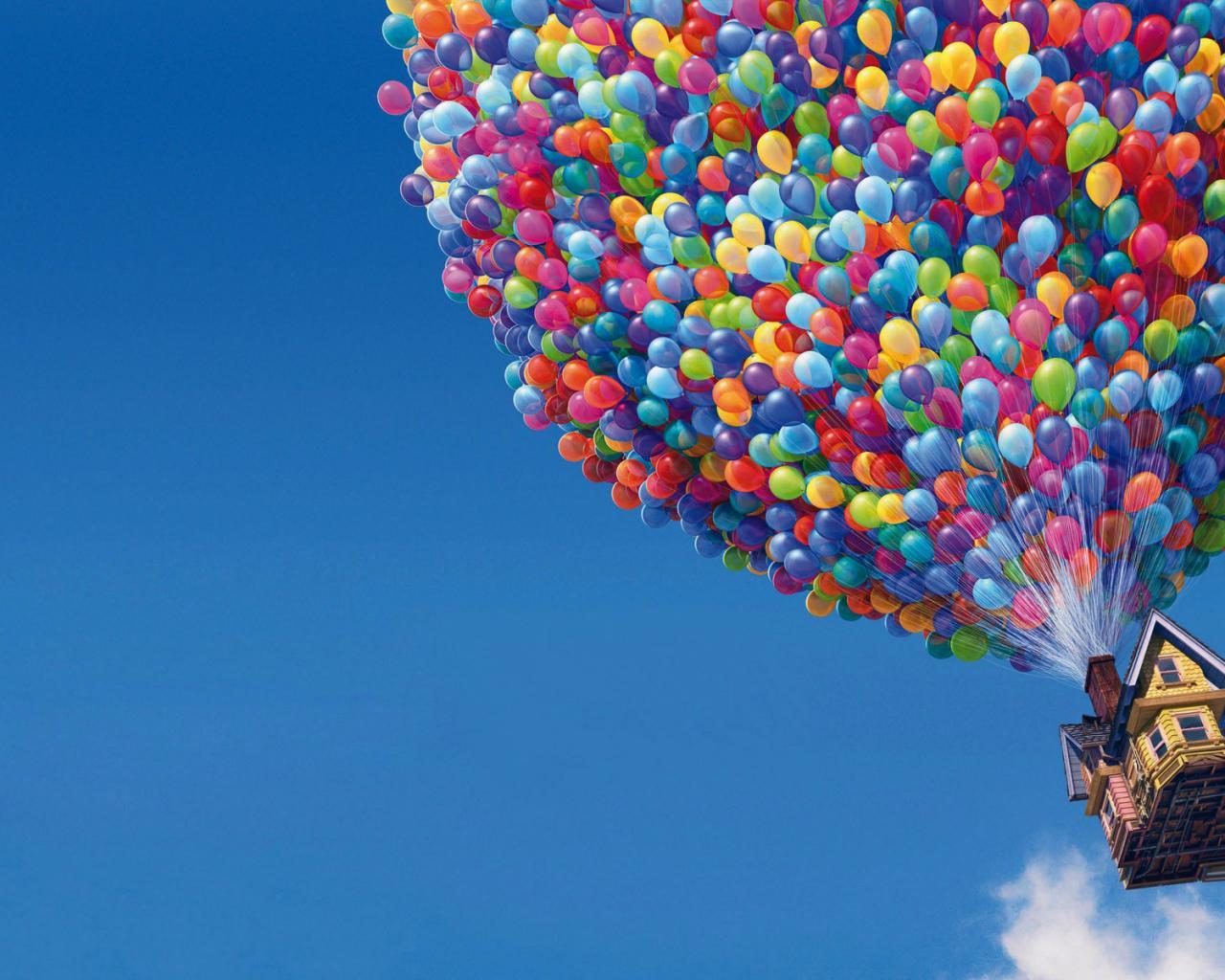 шары фото в небе