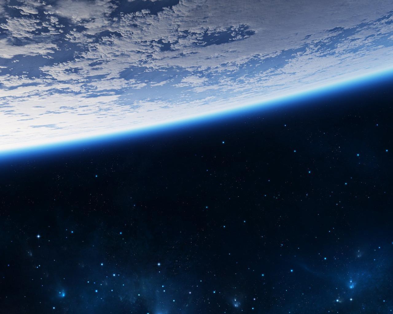 Земля вид из открытого космоса 1280x1024