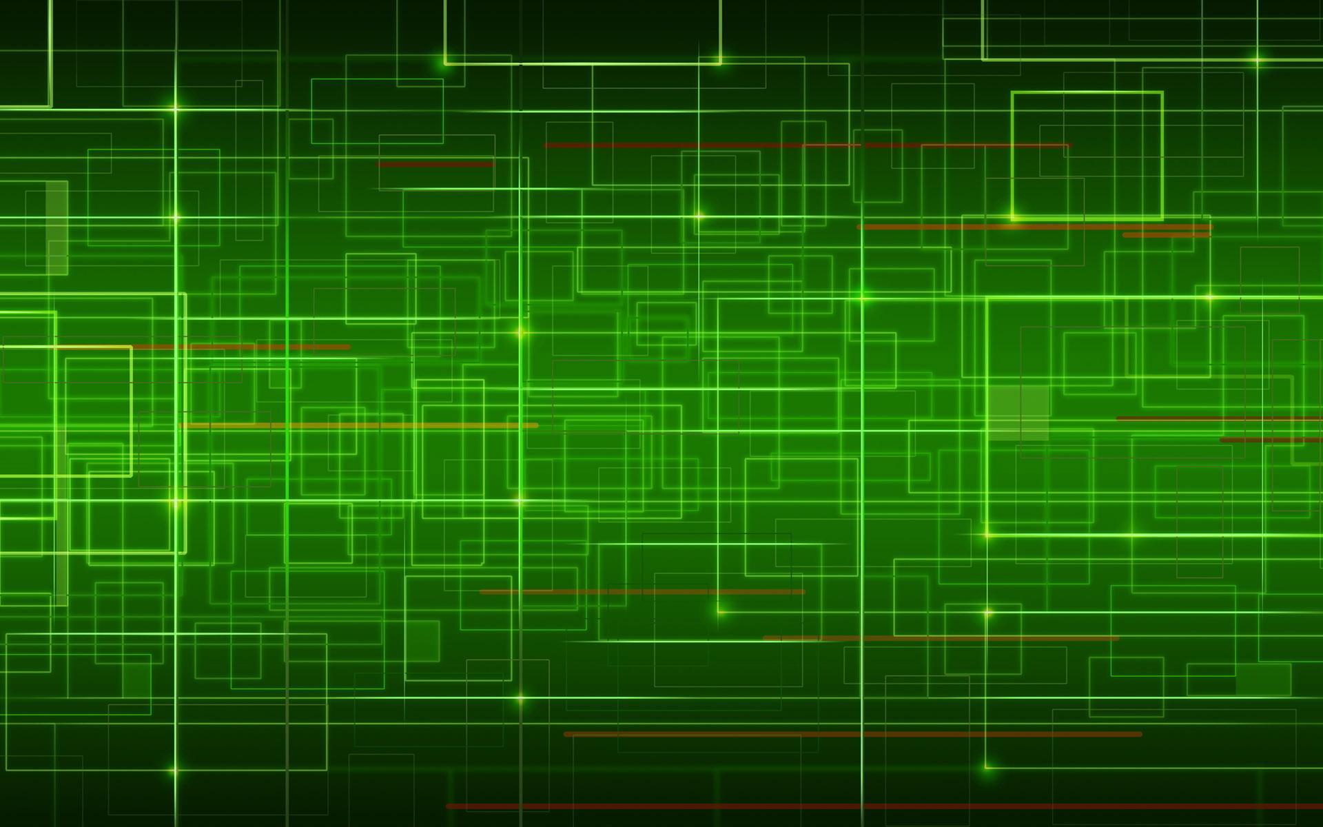 Абстракция зеленый фон линии обои