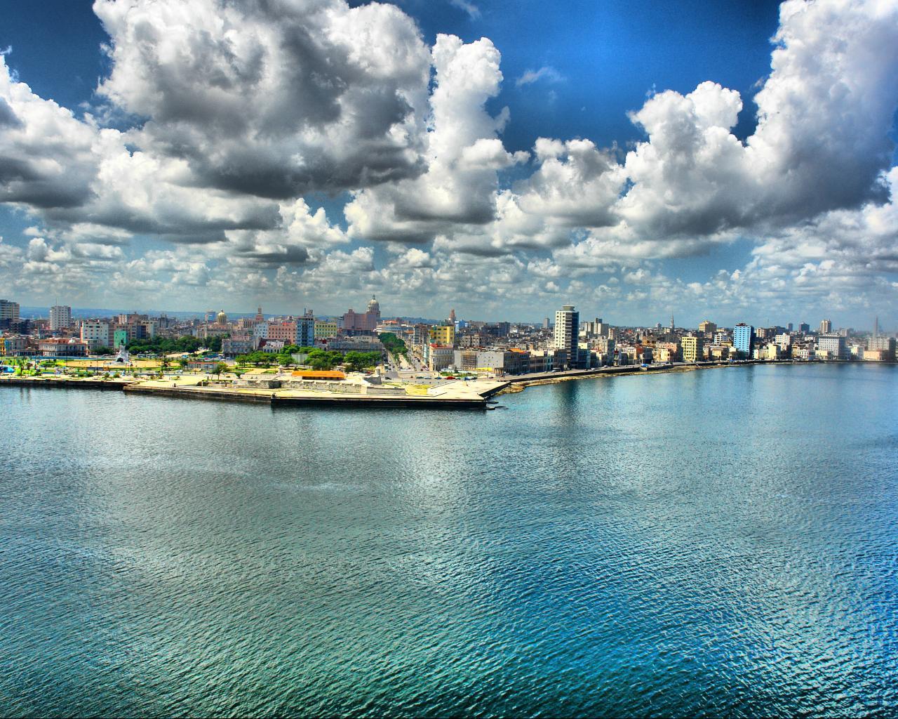 Куба гаванна набережная хдр обои