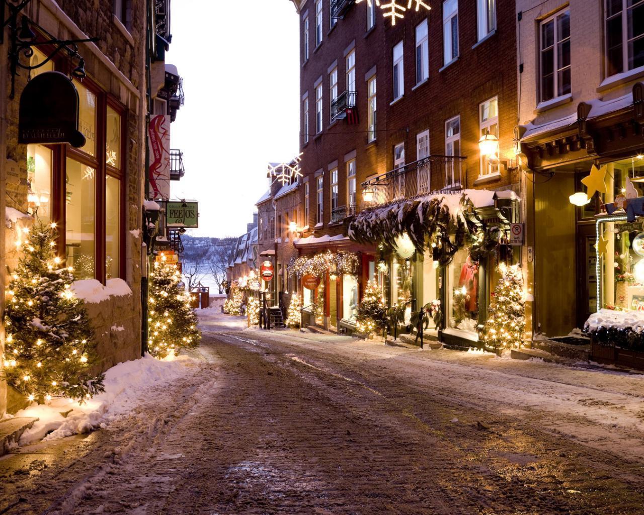 Зима елки новый год рождество 1280x1024