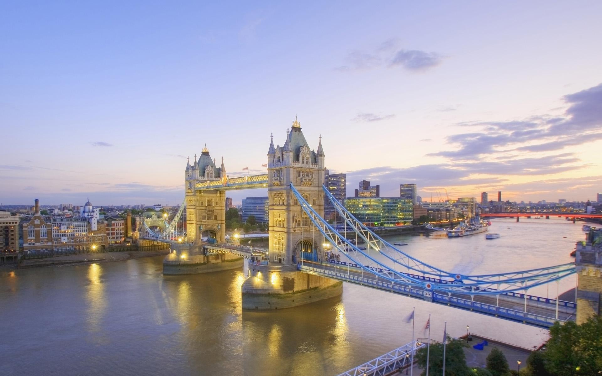 Тауэрский мост лондон англия 1920x1200