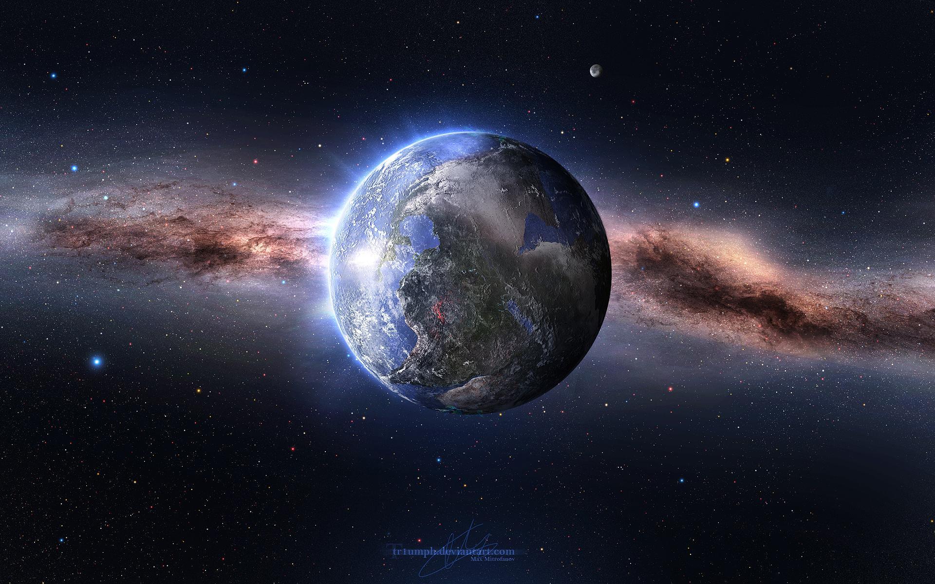 Планета земля звезды космос обои для
